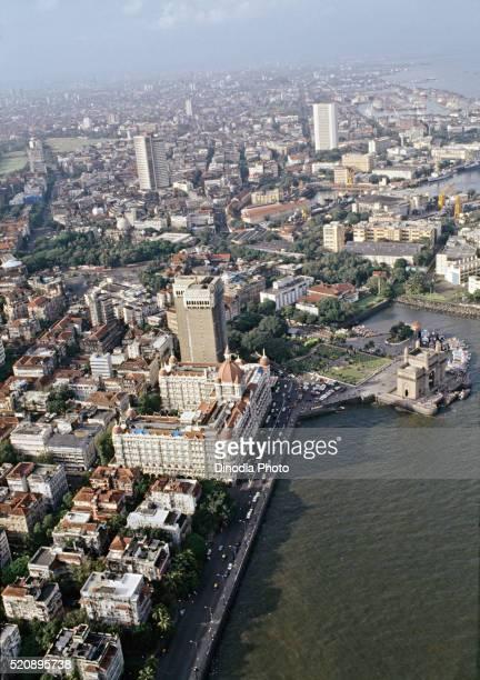Aerial view of gate way at Mumbai, maharashtra, India
