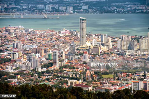 Aerial view of George Town Penang
