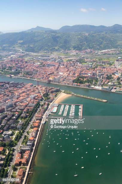 Aerial view of Getxo and Portugalete