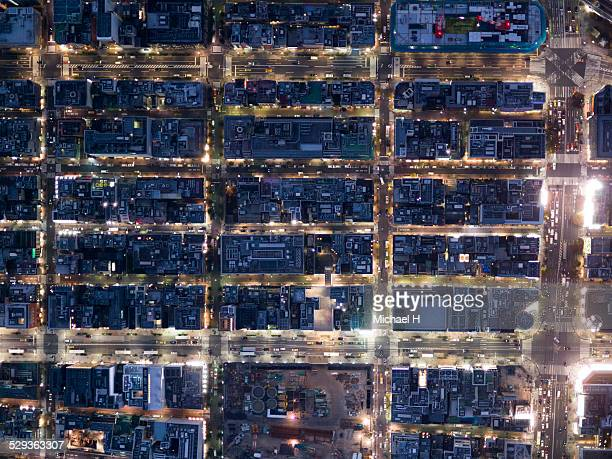 aerial view of ginza - ginza stock pictures, royalty-free photos & images