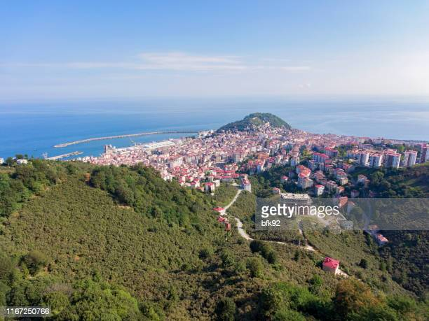 aerial view of giresun city in turkey. - trabzon stock pictures, royalty-free photos & images