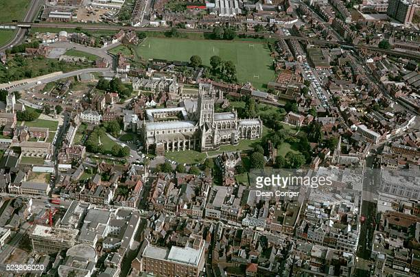 Aerial View of Gloucester Cathedral and City
