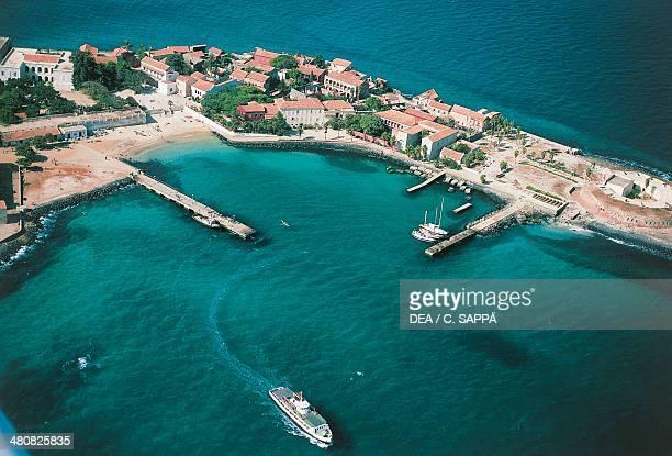 Aerial view of Gorea Island Senegal