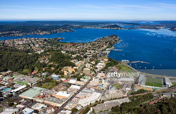 Aerial view of Gosford, Central Coast, NSW, Australia