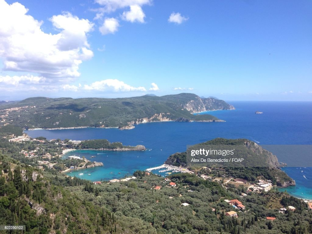 Aerial view of Greek island : Stock Photo