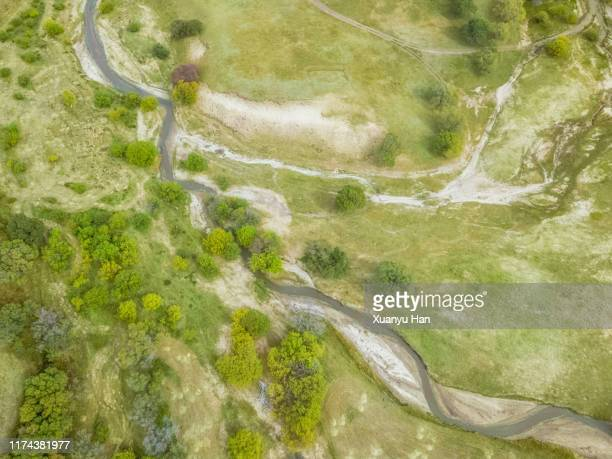 aerial view of green countryside - marsh stock pictures, royalty-free photos & images