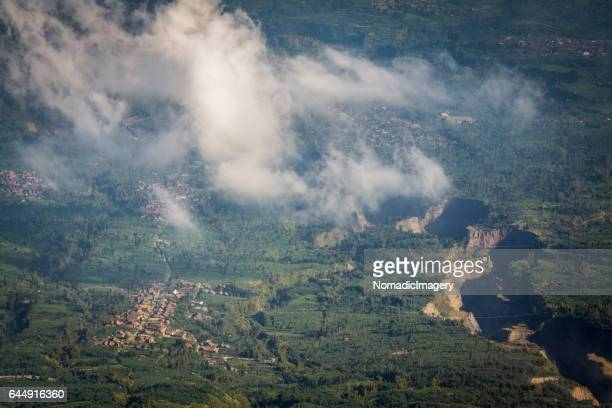 Aerial view of green indonesian landscape