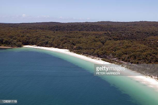 Aerial View of Green Patch, Jervis Bay, NSW, Australia