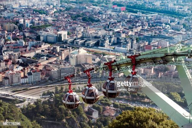 aerial view of grenoble france - グルノーブル ストックフォトと画像