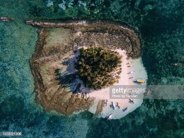 aerial view of guam island, siargao philippines. - philippines stock pictures, royalty-free photos & images