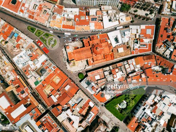 aerial view of guanajuato mexico - guanajuato stock pictures, royalty-free photos & images