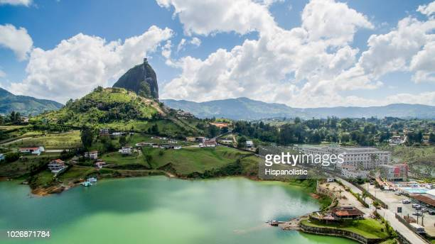 aerial view of guatape - colombia stock pictures, royalty-free photos & images