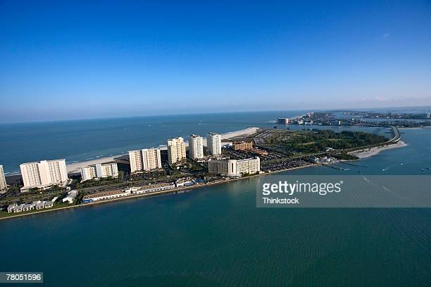 Aerial view of Gulf of Mexico, Clearwater, Florida