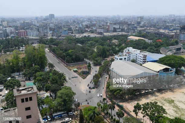 Aerial view of Gulisthan area in Dhaka city.
