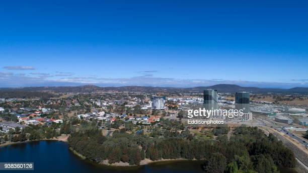 aerial view of gungahlin town centre closer - australian capital territory stock pictures, royalty-free photos & images