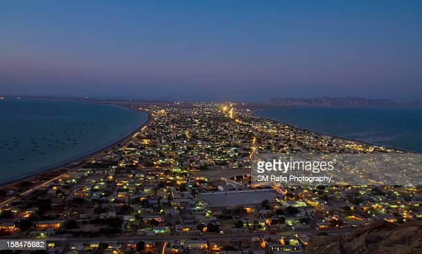 Aerial View of Gwadar City at Night version