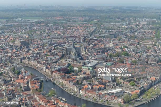 aerial view of haarlem - haarlem fotografías e imágenes de stock