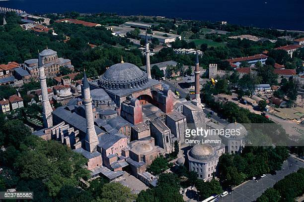 Aerial View of Hagia Sophia