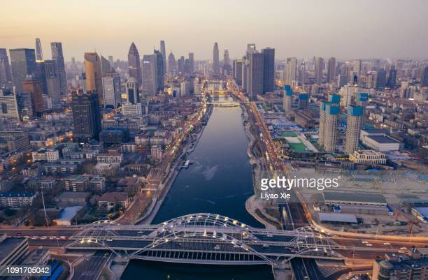 aerial view of hai river - liyao xie stock pictures, royalty-free photos & images