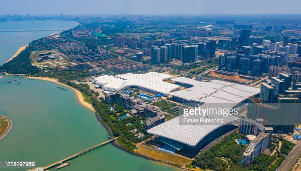 Aerial view of Hainan International Convention and Exhibition Center. Haikou city, Hunan Province, China, 29 August 2020.- PHOTOGRAPH BY Costfoto /...