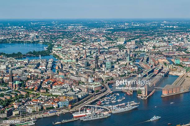 Aerial view of Hamburg