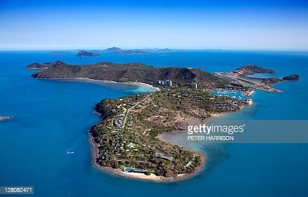 Aerial view of Hamilton Island, Whitsundays, Queensland, Australia