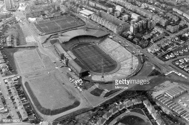Aerial View of Hampden Park Stadium Glasgow Scotland 3rd May 1990