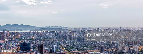 Aerial view of Hangzhou city,China