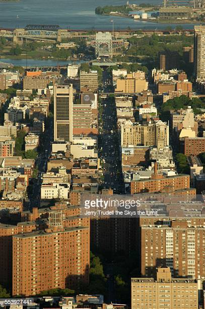 Aerial view of Harlem and 125 street