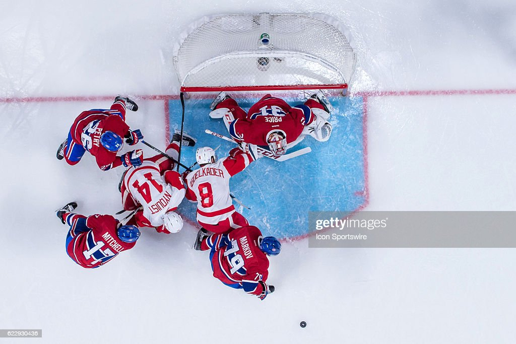 NHL: NOV 12 Red Wings at Canadiens : News Photo