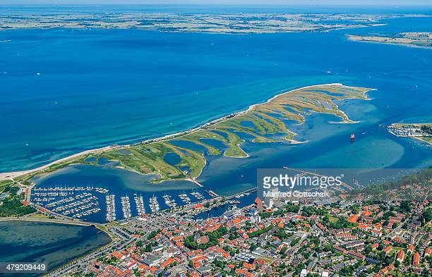 aerial view of heiligenhafen - fehmarn stock pictures, royalty-free photos & images