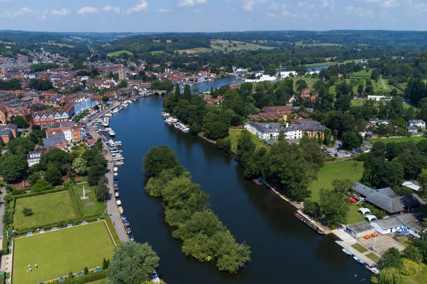 Aerial view of Henley-on-Thames.