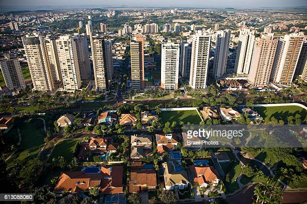 Aerial view of highclass district in Ribeirao Preto city Sao Paulo State Brazil Development of agribusiness in this region attracts skilled workers...
