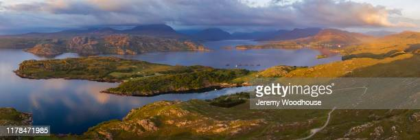 aerial view of highlands - wester ross stock pictures, royalty-free photos & images