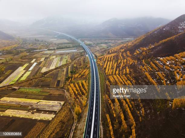 aerial view of highway - asia pac stock pictures, royalty-free photos & images