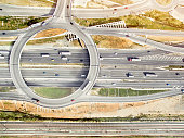 Aerial view of highways