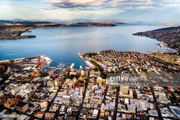 Aerial View of Hobart, Tasmania