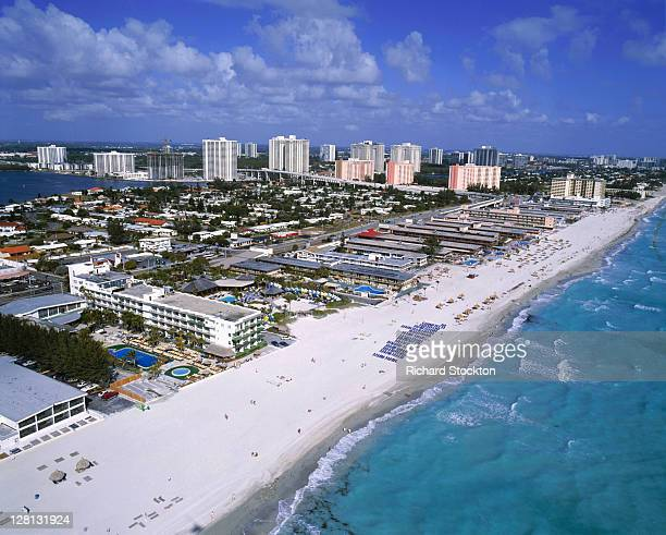 Aerial view of Hollywood Beach, FL