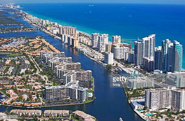 aerial view of hollywood, florida, united states - hollywood stock pictures, royalty-free photos & images