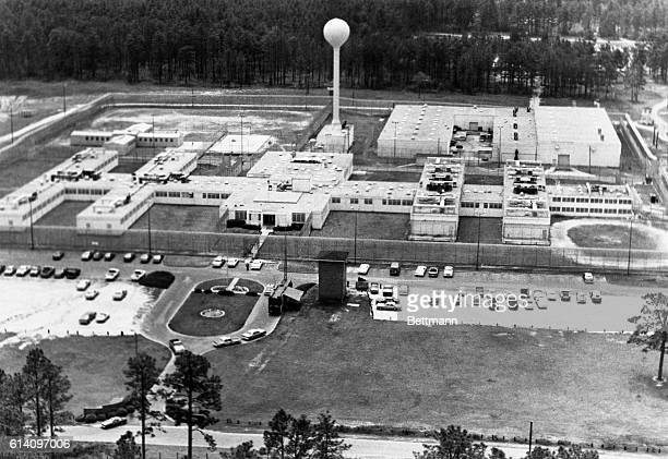 Aerial view of Holman Prison where convicted murderer John Lewis Evans of Beaumont Texas is scheduled to die in the state's electric chair at 1201am...