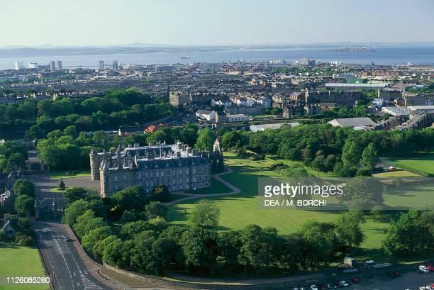 Aerial view of Holyrood palace 16711679 Edinburgh Scotland United Kingdom 17th century