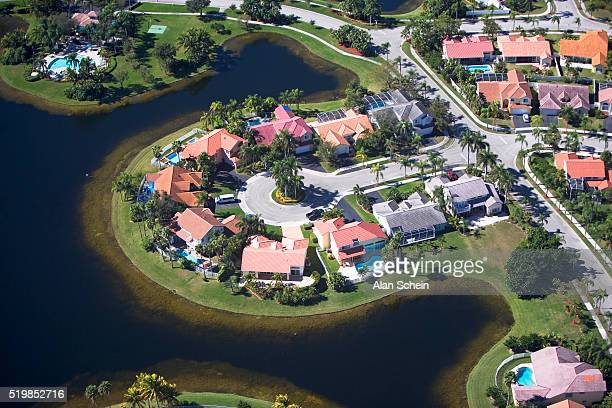 Aerial View of Homes on Cul-de-sac