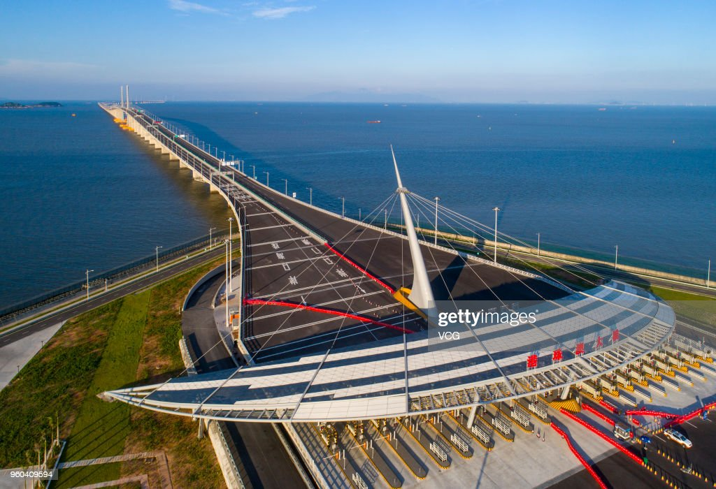 Aerial View Of Hong Kong-Zhuhai-Macau Bridge