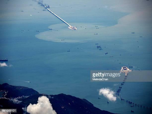 Aerial view of Hong Kong-Zhuhai-Macau bridge