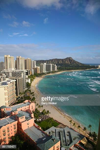 Aerial view of Honolulu beach