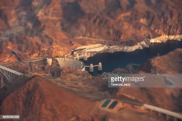 Aerial View Of Hoover Dam and Mike Ocallaghan Pat Tillman Memorial Bridge