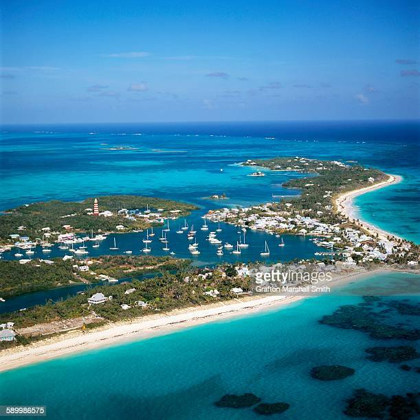 Aerial View of Hopetown in the Bahamas