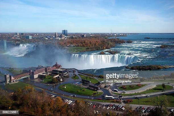 Aerial view of Horseshoe falls, Niagara Falls