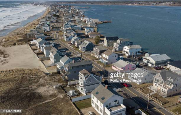 Aerial view of houses along Wells Beach photographed on Saturday April 4 2020 Town officials are discouraging out of state seasonal residents from...
