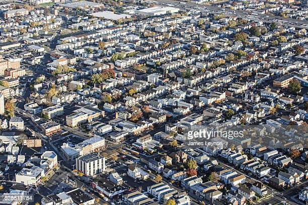 Aerial view of houses in Elizabeth New Jersey